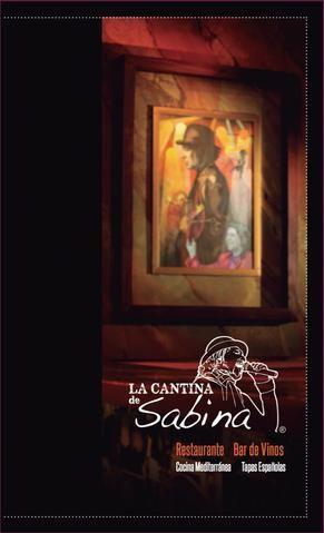 La Cantina de Sabina  Menú de La Cantina de Sabina