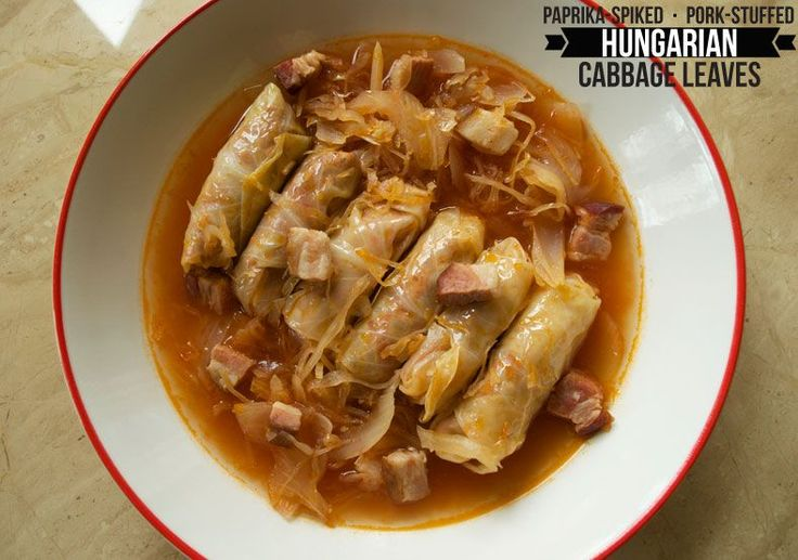 "Called the ""coat of arms of Hungary,"" toltott kaposzta is the ultimate Hungarian comfort food of cabbage wraps stuffed with a delicious meat filling. Enjoy!"