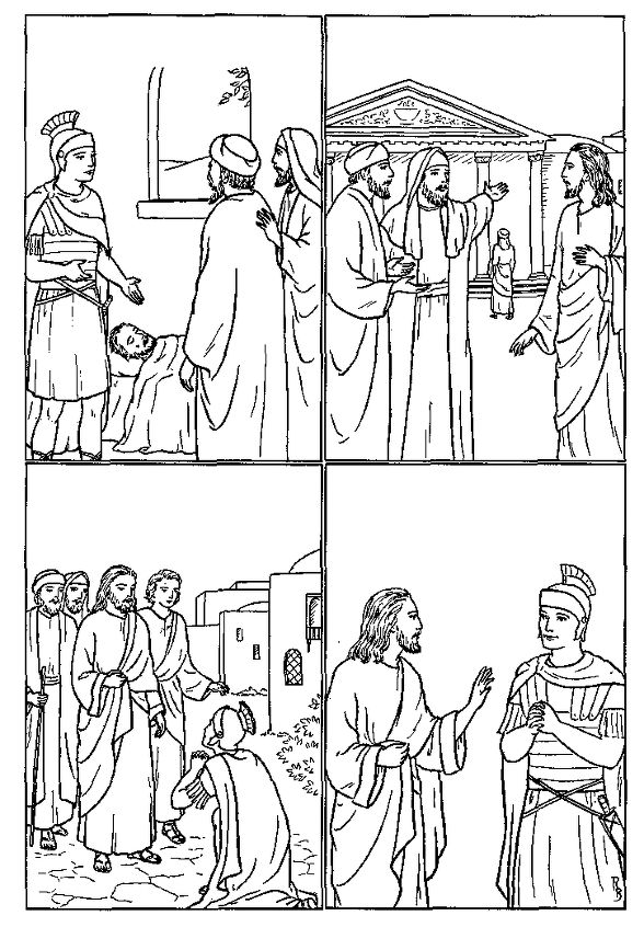 centurion servant coloring pages - photo#11