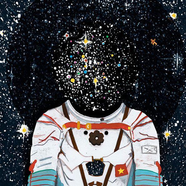 'Astronaut', pop art, by Mike Ellis.