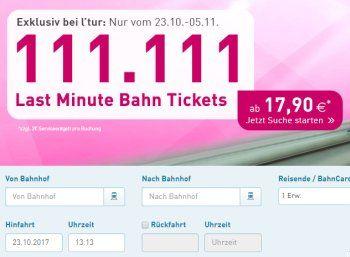 """l'tur: Bahntickets ab 17,90 Euro plus zwei Euro Gebühr https://www.discountfan.de/artikel/reisen_und_bildung/ltur-bahntickets-ab-1790-euro-plus-zwei-euro-gebuehr.php Ab sofort und nur für wenige Tage gibt es bei l'tur wieder Bahntickets zu Preisen ab 17,90 Euro. Insgesamt will der Onlineshop 111.111 """"Last Minute Bahn Tickets"""" im Angebot haben. l'tur: Bahntickets ab 17,90 Euro plus zwei Euro Gebühr (Bild: l'tur.de) Die Bahntickts... #Bahn, #"""