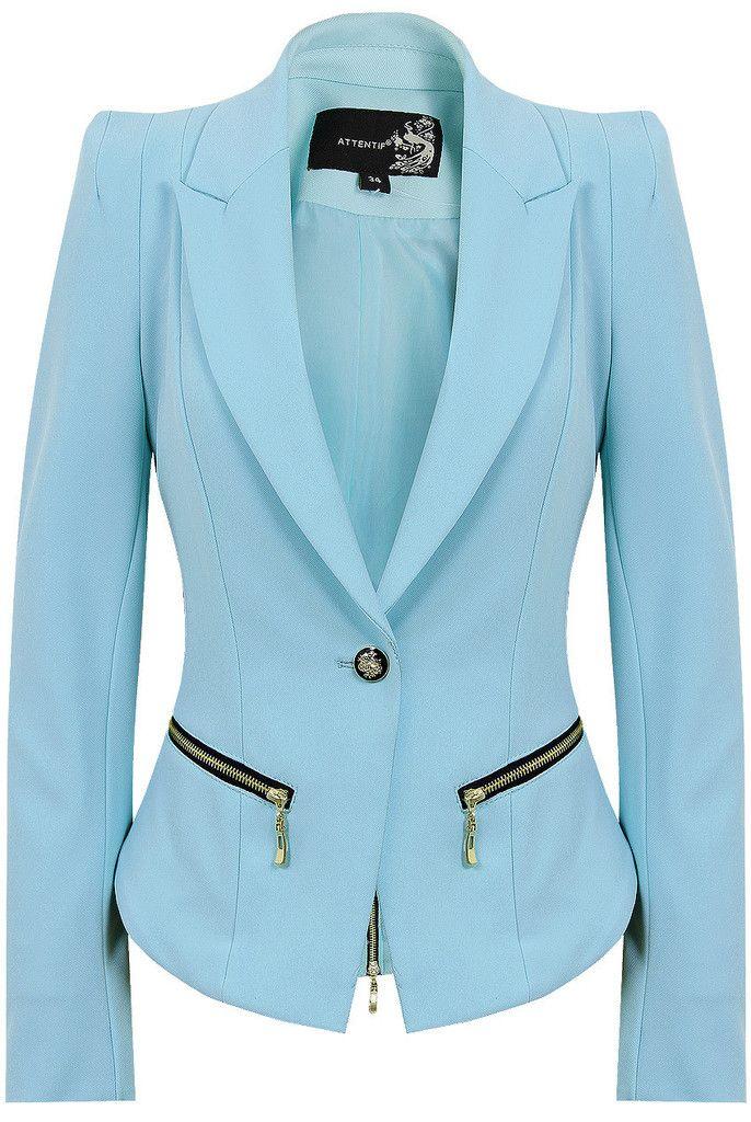 Tori's powder blue jacket