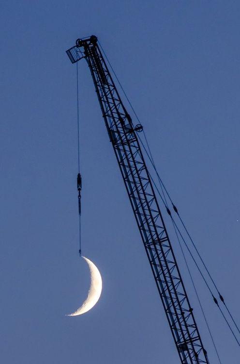 Hanging the biggest night light