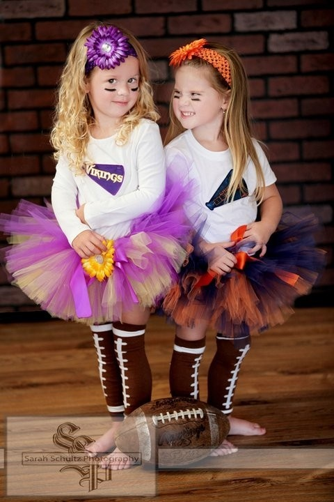 Cheerleader costume. I can make the tutu and a little letter sweater or vest!! Too cute!!