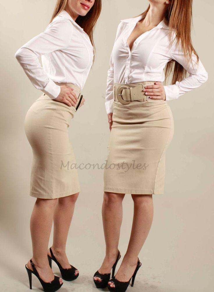 Khaki High Waisted Skirt