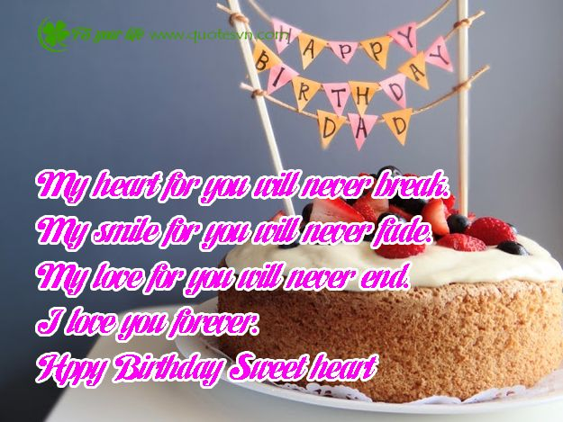 Happy Birthday quotes for girlfriend / wife