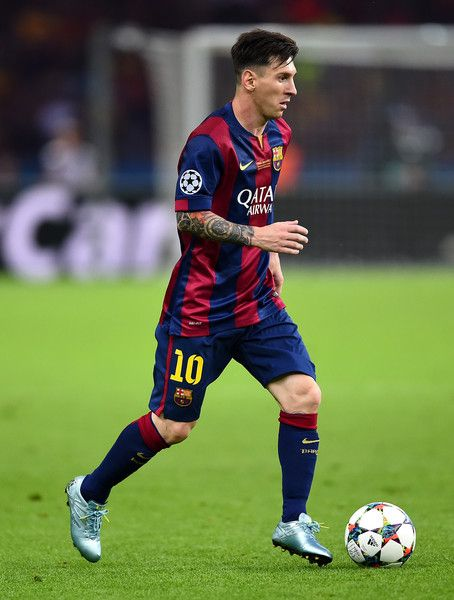 Lionel Messi of Barcelona in action during the UEFA Champions League Final between Juventus and FC Barcelona at Olympiastadion on June 6, 2015 in Berlin, Germany.