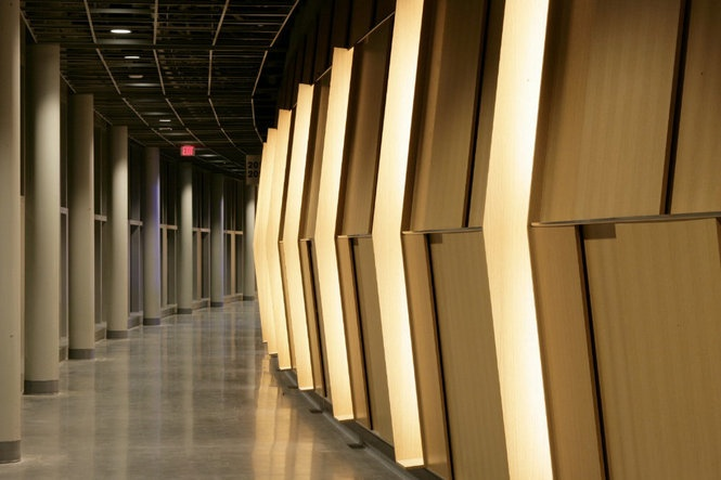 The Matt has oak paneling in the concourse and enhanced lighting. Lawrence Anderson/TVA Architects