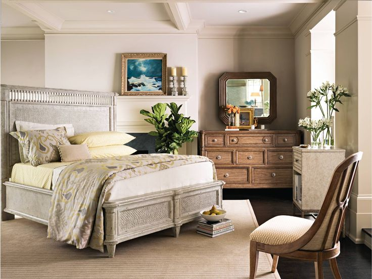 Add romance to any bedroom in your home. This Stanley Furniture Bedroom provides the perfect escape to any day. Relax in comfort and updated styling. Great for an extra guest room or master suite.