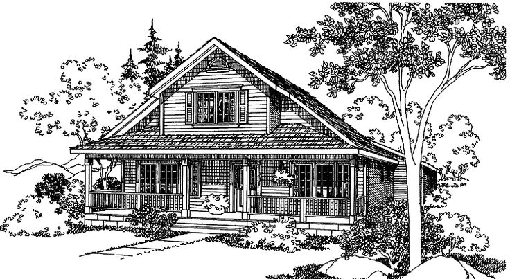 Eplans cottage house plan three bedroom cottage 1580 for Eplans cottage house plan