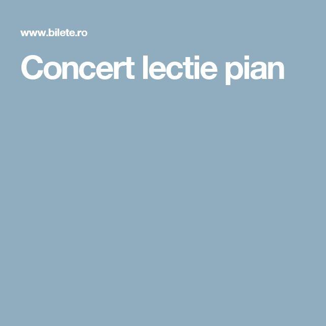 Concert lectie pian