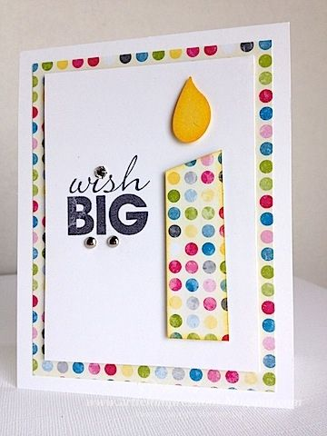 Clean and simple birthday card at ARTfelt Impressions. Many other clean and simple cards on this site. Good ideas, great cards.