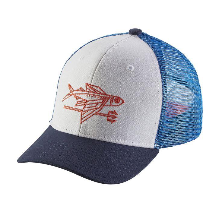 Patagonia Kid's Trucker Hat - Geodesic Flying Fish: White