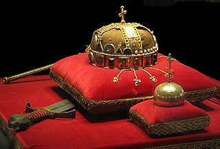 Holy Crown of Hungary. Exhibited in the Parliament. Budapest.