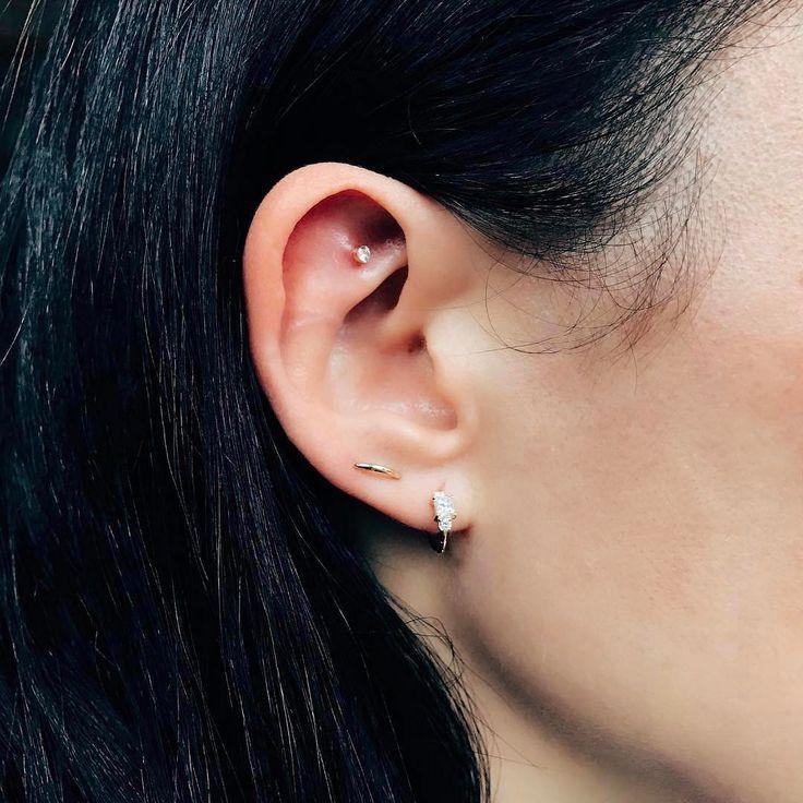 Diamond Chain Orbit for 2 Piercings || Shop this look from @maria_tash