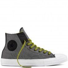 Converse barevné pánské tenisky CTAS II Hi Black/White/Fresh Yellow - 2390 Kč