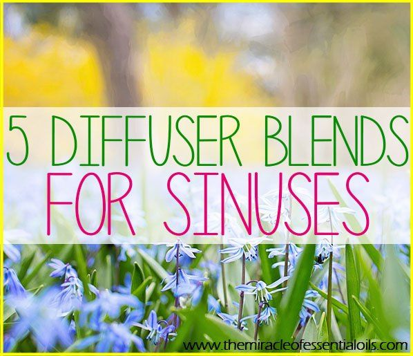 Use any of these 5 essential oil diffuser blends for sinus infection as a natural treatment!