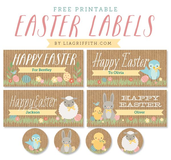 33 best easter labels easter label templates images on pinterest free kids easter label printables by lia griffith negle Gallery
