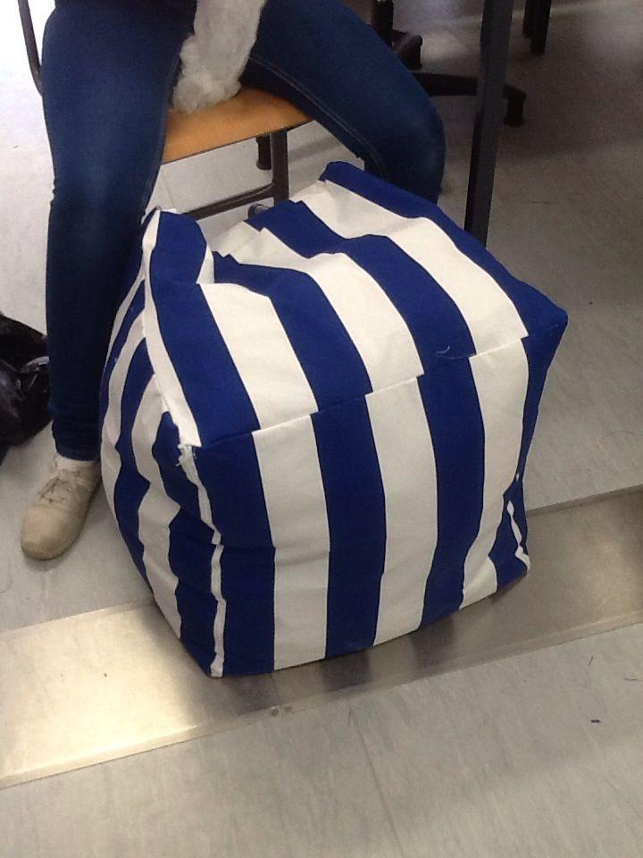 Beanbagchair. Fabric from Eurokangas.
