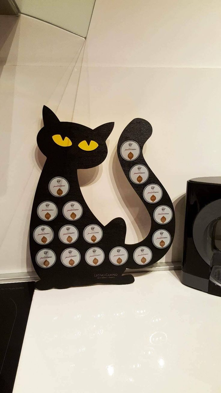 Dolce Gusto Slick And Slim Coffee Pod Holder In A Shape Of Cat Is