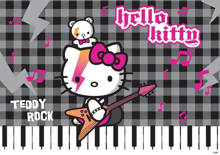 fototapet Hello Kitty and Teddy Rock