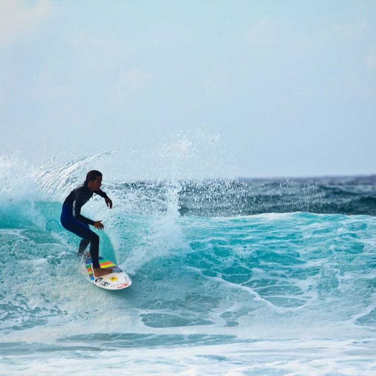 Epic surf session at the famous Surfers Corner at Muizenberg beach