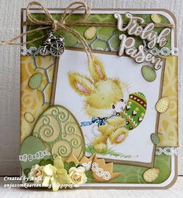 Hallo allemaal, Wat zijn het leuke plaatjes he die Easter Bunnies en past zo mooi bij dat Watercolour papier blok PK9127. Co...