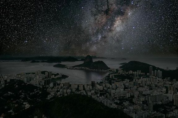 Rio-de-janeiro-Thierry-Cohen: What Major World Cities Look Like at Night, Minus the Light Pollution.