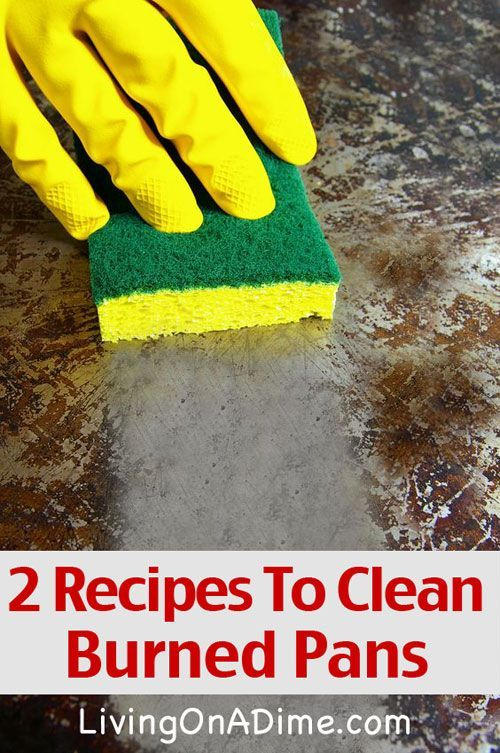 how to clean burnt coated pot