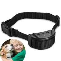 Wish | (Ship from US EU)No Bark Collar Electric Anti Bark Shock Control with 7 Levels Adjustable Sensitivity Control