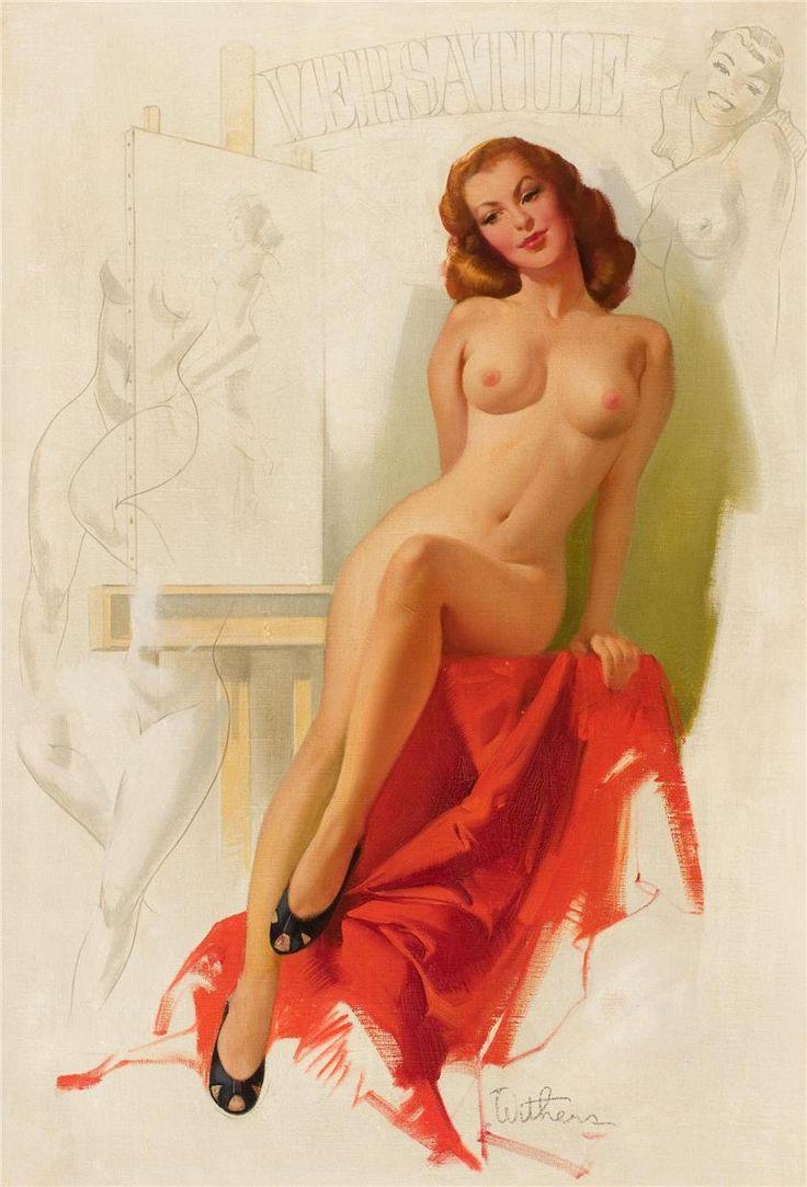 Голые дамы ретро нарисованные — 7