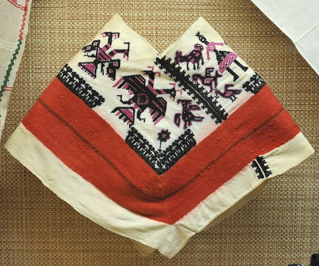 Otomi Quechquemitl Mexico by Teyacapan, via Flickr