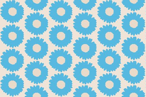 Daisy-blue and big fabric by miamaria on Spoonflower - custom fabric