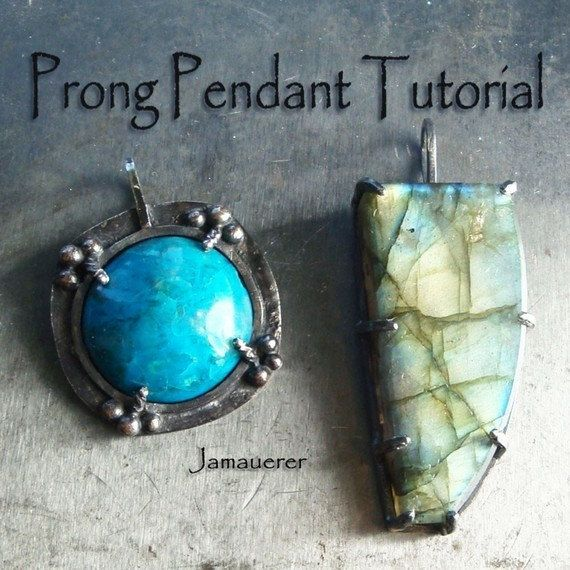 Tutorial Prong Set Stone Pendant by jewelstutorials on Etsy, $7.00
