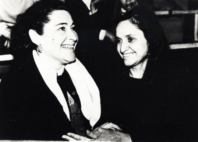 Margot Loyola y Violeta Parra.