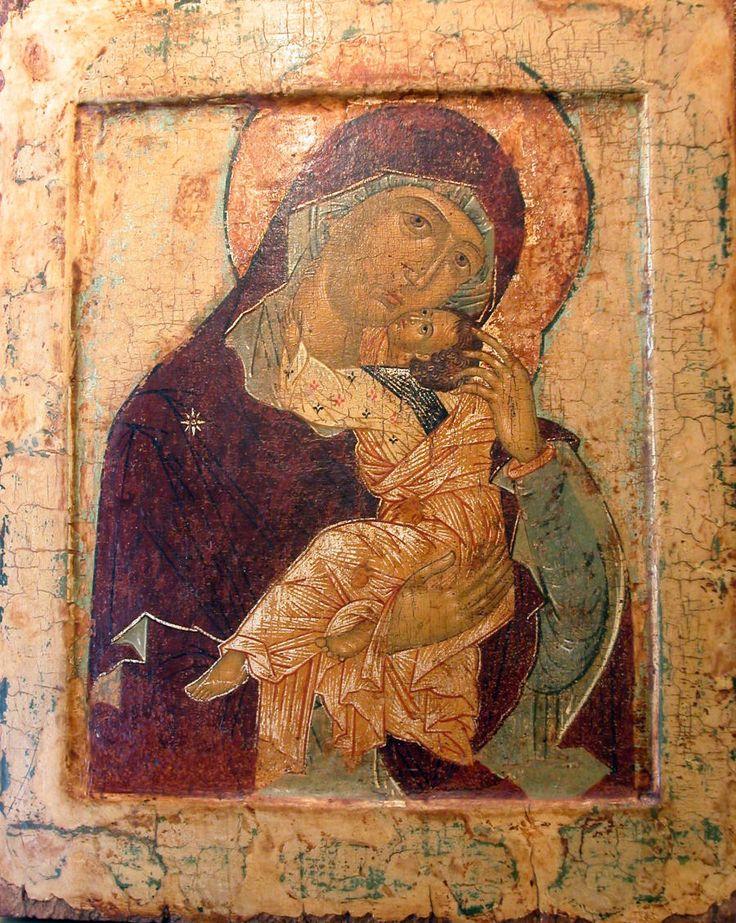 Vista dettagliata: Z013.  Vergine di Vzygranie (Playful) - esposto alla Galleria Tempio, specialisti in icone russe