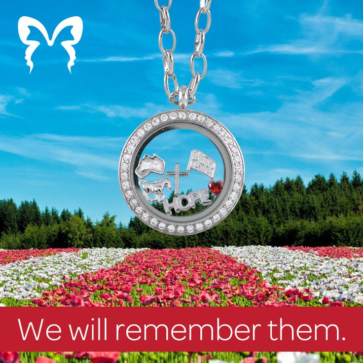 """We will remember them """"Butterfly Memories"""" Pendant and charms by Butterfly Silver"""