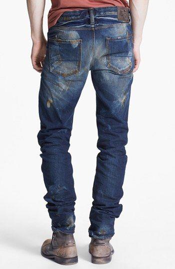 PRPS Slim Straight Leg Jeans (Indigo) available at #Nordstrom   Raddest Men's Fashion Looks On The Internet: http://www.raddestlooks.org