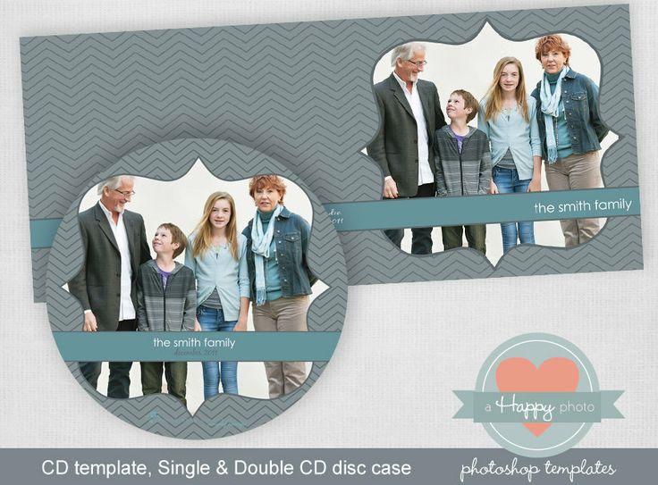 Dünne Chevron digital CD und CD Fällen PsdDatei von ahappyphoto, $7,00