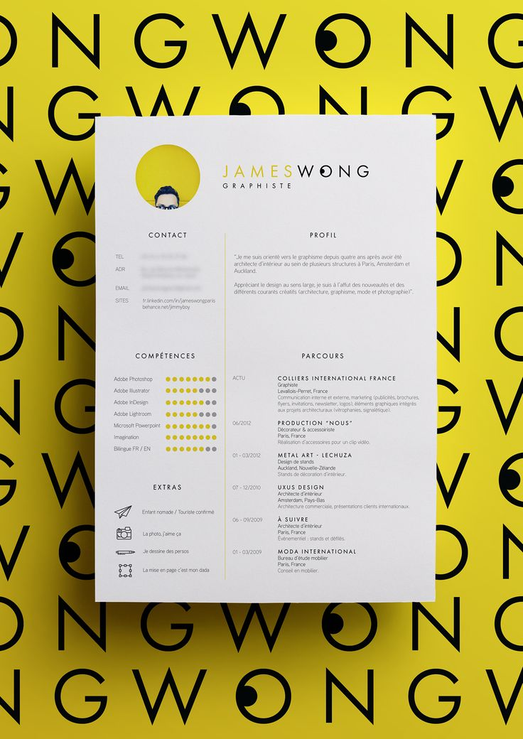 Check out this Behance project Curriculum Vitae