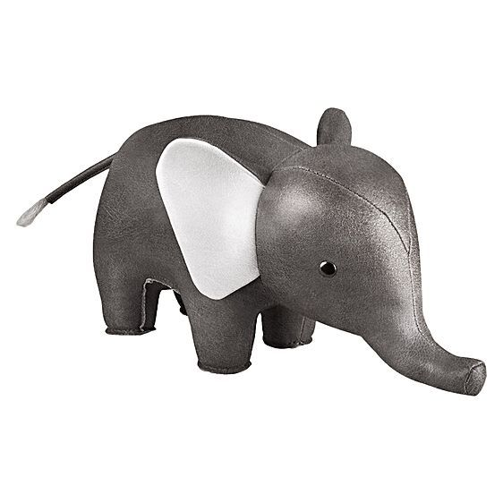 Cute and eye-catching, the Classic Chrome Elephant Bookend from Zuny decorates your little one's space in cool, metallic style.