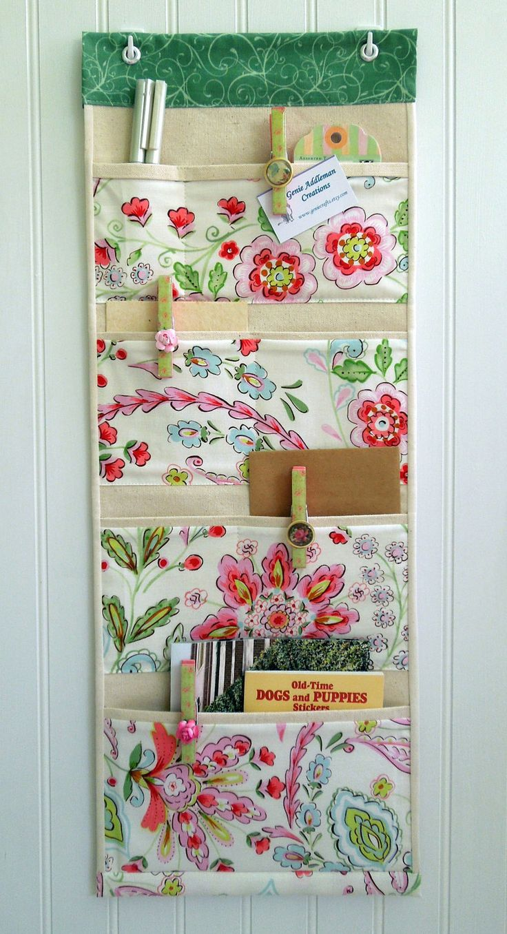 Wall or Door Organizer in a Cottage Chic Design by geniecrafts