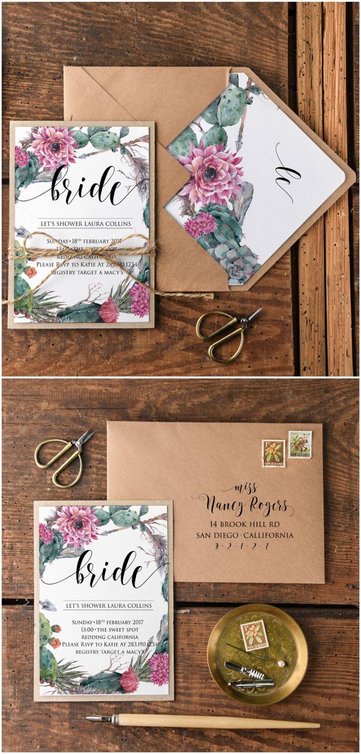matter for wedding invitation in gujarati%0A Bridal Shower Wedding Invitation with floral printing and rustic twine   bridetobe  bridalshowe  weddingideas