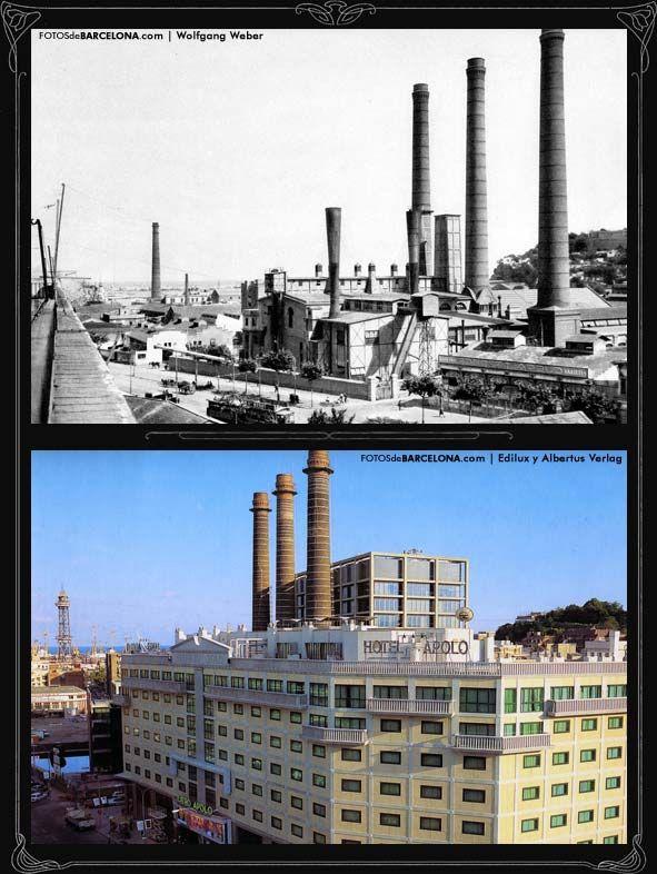 FOTOS DE BARCELONA Fotografías comparativas de Barcelona. Pasado y presente Fábrica de electricidad