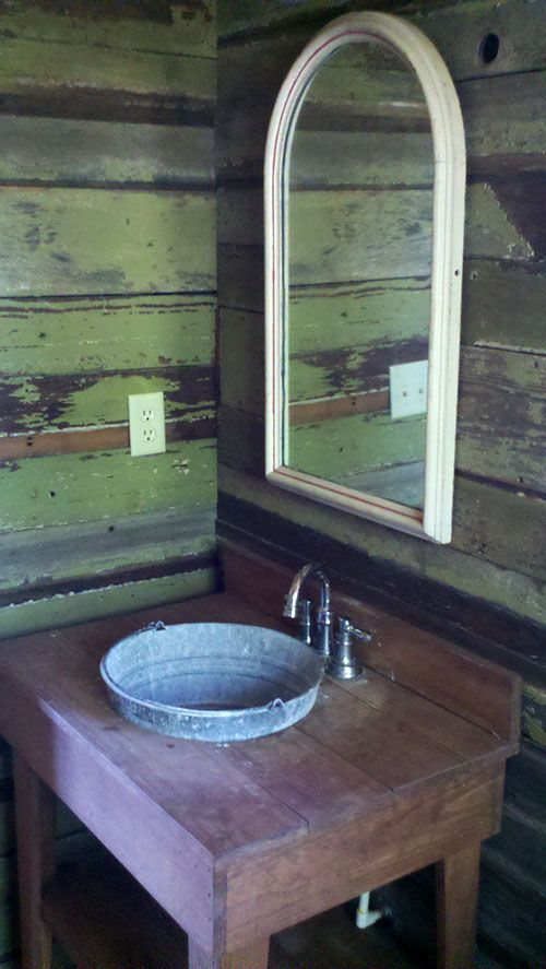 Bathroom Pictures lake home bathroom with tin bucket sink www ...