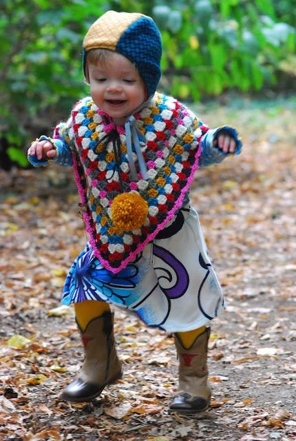poncho, crochet