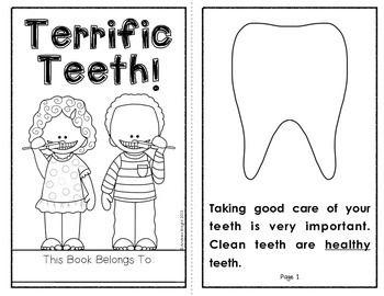 Terrific Teeth!  (A Student Book About Healthy Teeth)  K-1  #dentalhealth  #teeth  $