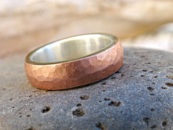 mens ring copper band copper wedding ring mens by CrazyAssJD