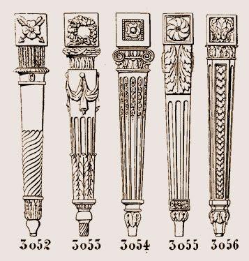 Pied d'armoire, pieds, style Louis XVI