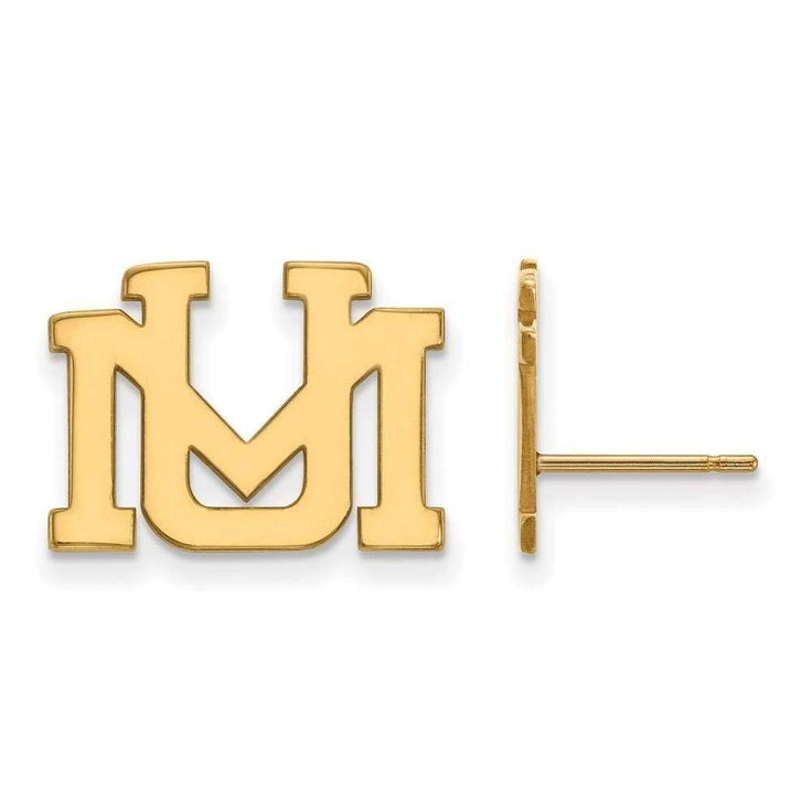 14ky LogoArt University of Montana Small Post Earrings